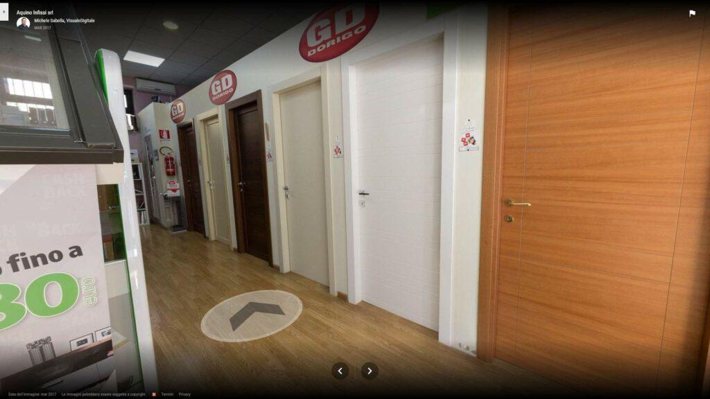 Tour virtuale per showroom: Aquino infissi, a Benevento