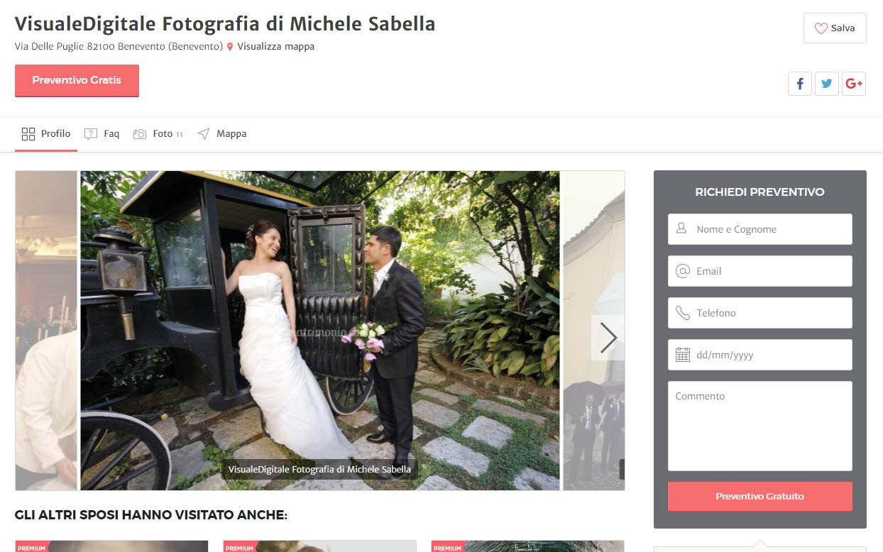 matrimonio.com Michele Sabella azienda partner visualedigitale