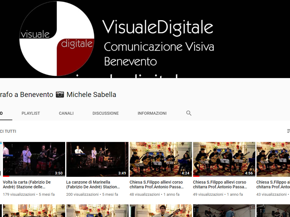 Fotografo a Benevento Michele Sabella, il canale youtube visualedigitale