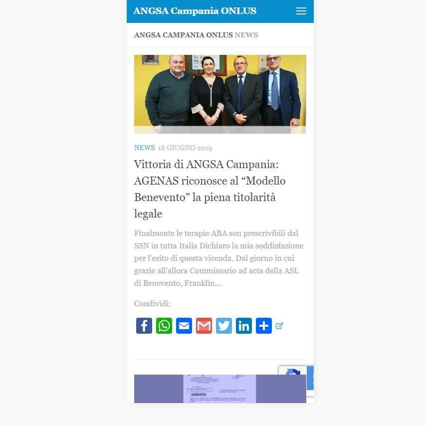 AngolodiVIsuale Webagency Benevento ANGSA Associazione Nazionale Soggetti Autistici Sezione CAMPANIA versione mobile