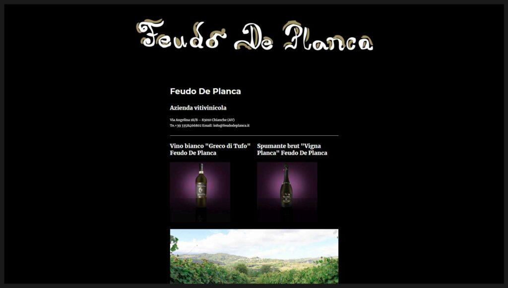 Visualedigitale Webagency Benevento Azienda Vitivinicola Feudo De Planca versione desktop