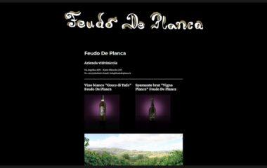 Angolodivisuale Webagency Benevento Azienda Vitivinicola Feudo De Planca versione desktop