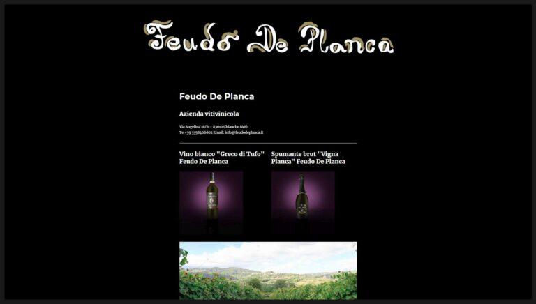 Sito Web Azienda Vitivinicola Feudo De Planca