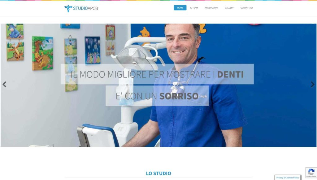 Visualedigitale Webagency Benevento Dentista Studio APOS Dott Sapio versione desktop