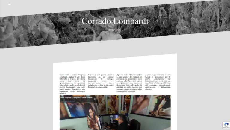 Sito Web Fotografo Cerimonialista Corrado Lombardi San Leucio Del Sannio (BN)