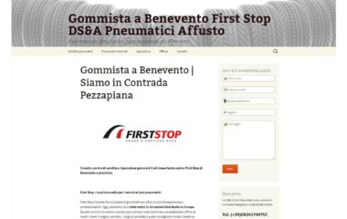 Angolodivisuale Webagency Benevento Gommista DSA First Stop versione desktop