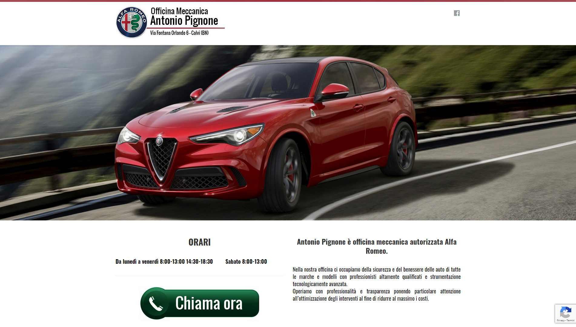 Sito Web Officina Meccanica Antonio Pignone Apice (BN)