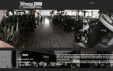 Angolodivisuale Webagency Benevento Palestra FITNESS 2000 versione desktop