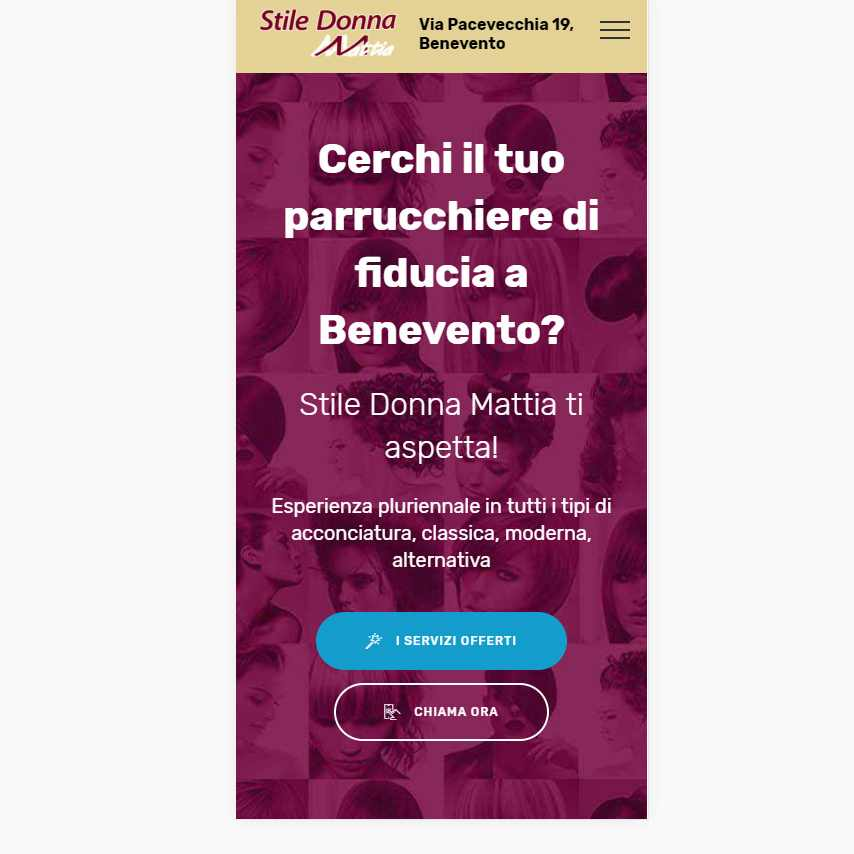 Visualedigitale Webagency Benevento Stile Donna Mattia Parrucchiere versione mobile (14)