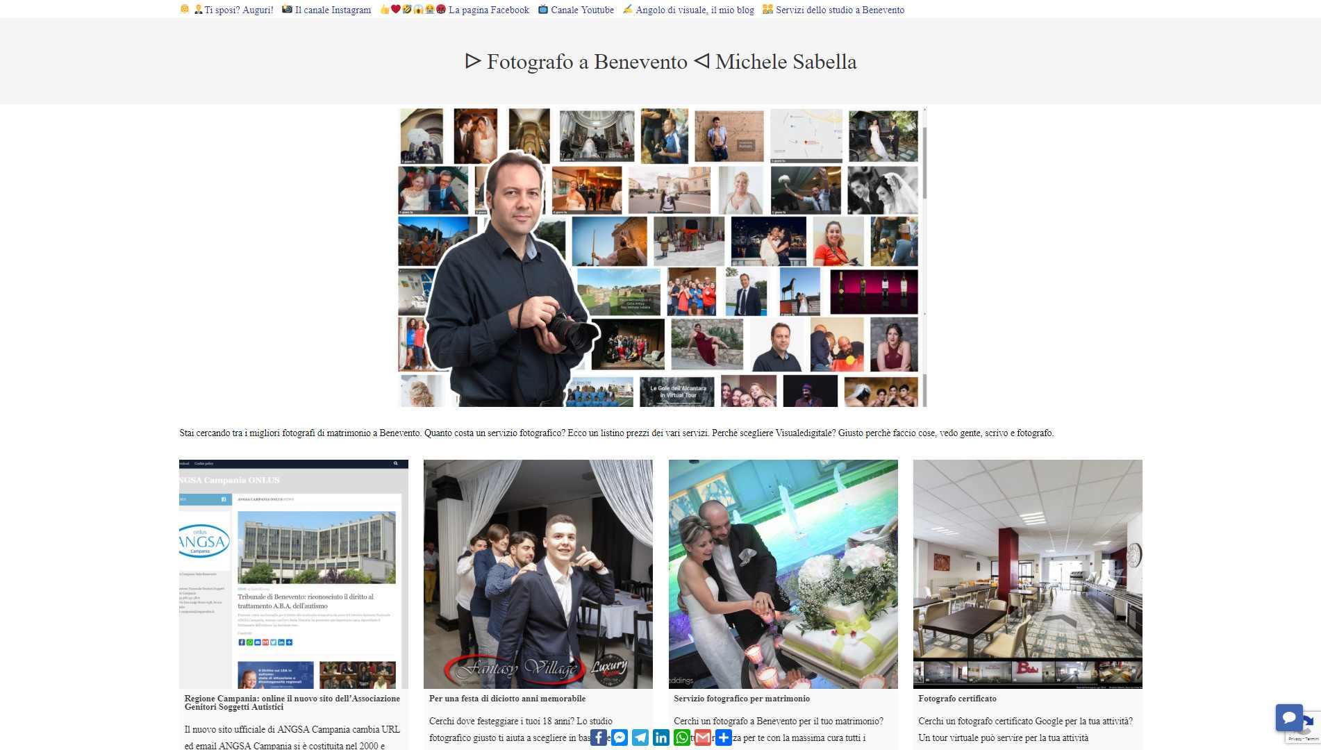 Visualedigitale Webagency Benevento sito web versione desktop