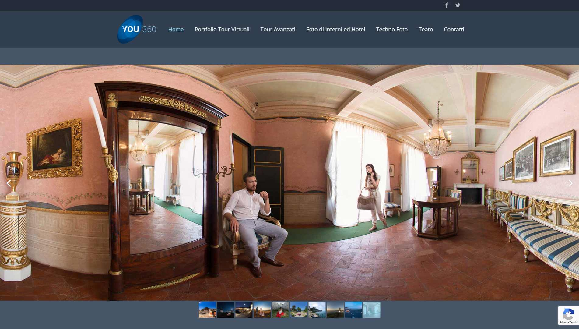 Sito Web you360.it Fotografi Certificati Google e tour virtuali