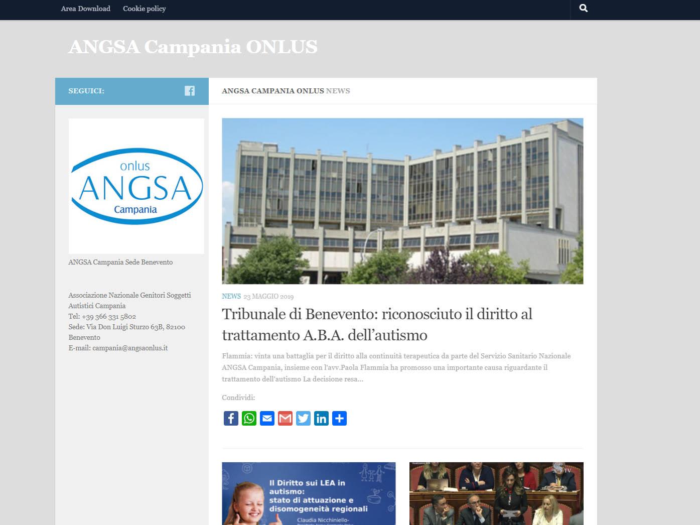 Sito web ANGSA Campania