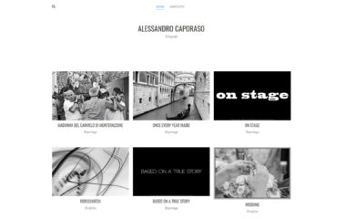 Sito www.alessandrocaporaso.com su desktop, creazione siti web ADV Benevento